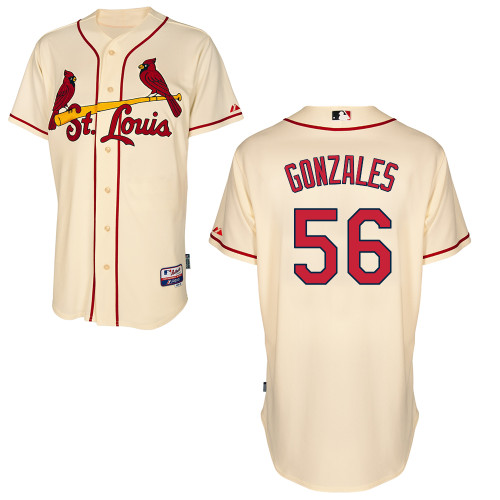 Marco Gonzales #56 MLB Jersey-St Louis Cardinals Men\'s Authentic Alternate Cool Base Baseball Jersey